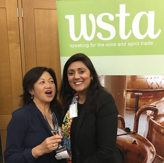Joyce Tay, Bluebell Vineyard, meets Nus Ghani MP, MP for Wealden