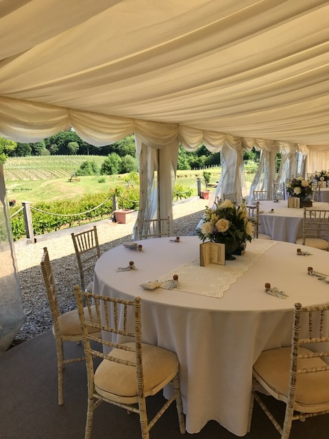 Marquee set up for a recent wedding.