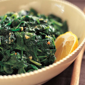 Garlic Sauteed Spinach - We make this all. the. time. We have it as a side with dinner, or with weekend breakfasts paired with eggs or on avocado toast. Recipe here.