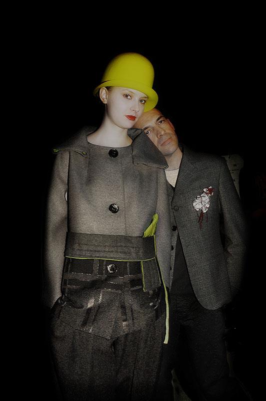 Antonio Marras & model