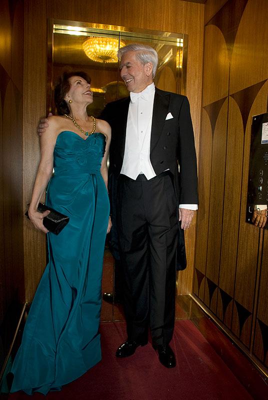 Mario Vargas Llosa & Patricia Llosa, Nobel Prize (Stockholm 2010)