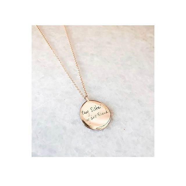 Personalise your jewellery with your own design and handwriting ✨ it creates the perfect gift or a sentimental piece for yourself 💛