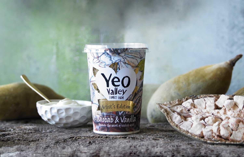 Yeo Valley Baobab & Vanilla -Artist Edition Yoghurt.