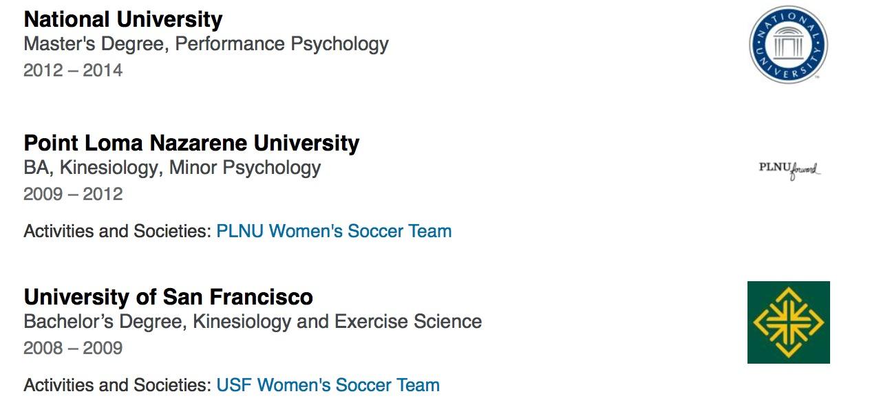 - Click here to visit Lauren's full LinkedIn profile.