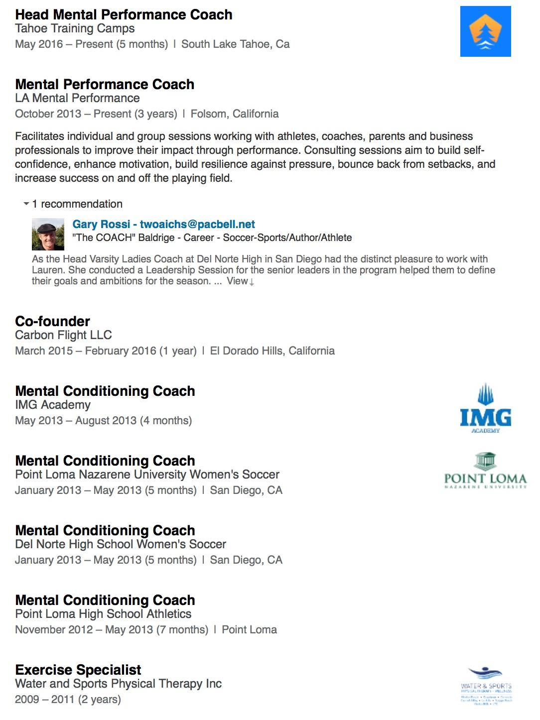 - Click here to visit Lauren's LinkedIn profile.