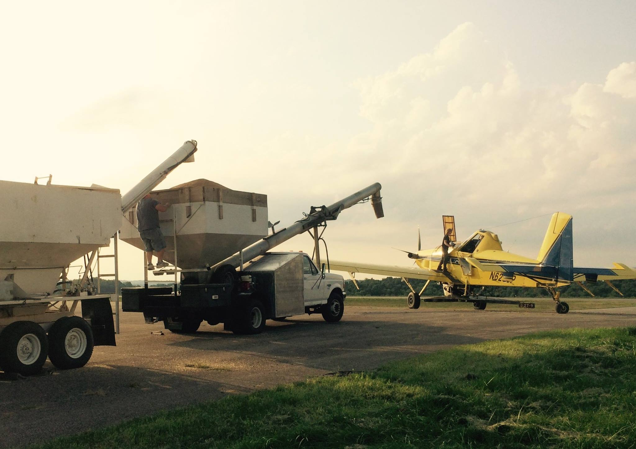 Holmes SWCD coordinates an extensive aerial cover crop seeding program for area farmers.
