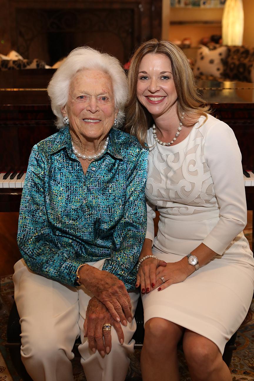 First Lady Barbara Bush with Foundation President Dr. Julie Baker Finck.