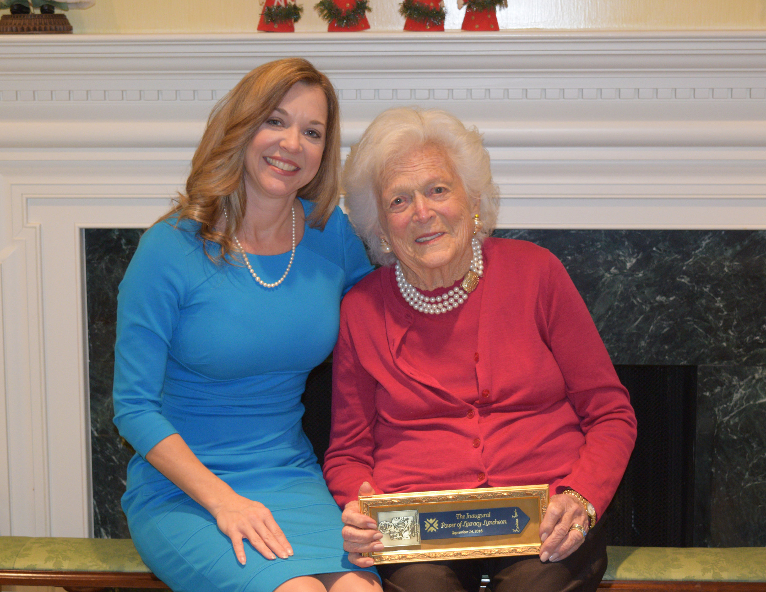 First Lady Barbara Bush with Foundation President Dr. Julie Baker Finck