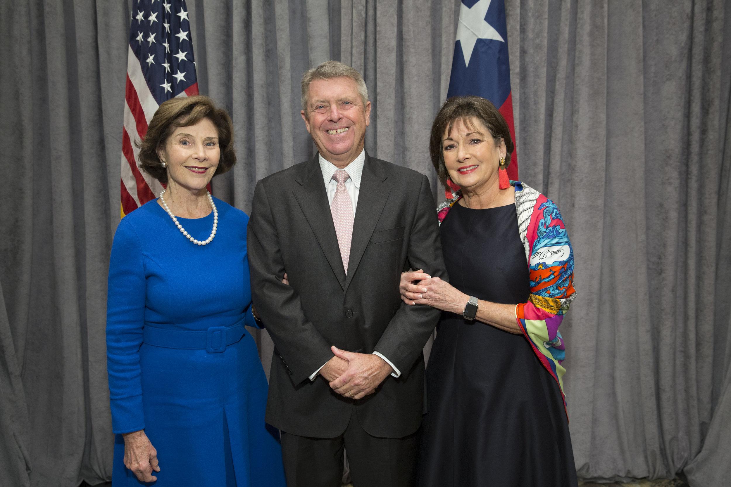 Laura Bush, Joe and Cathy Cleary; Photo by Jenny Antill.jpg