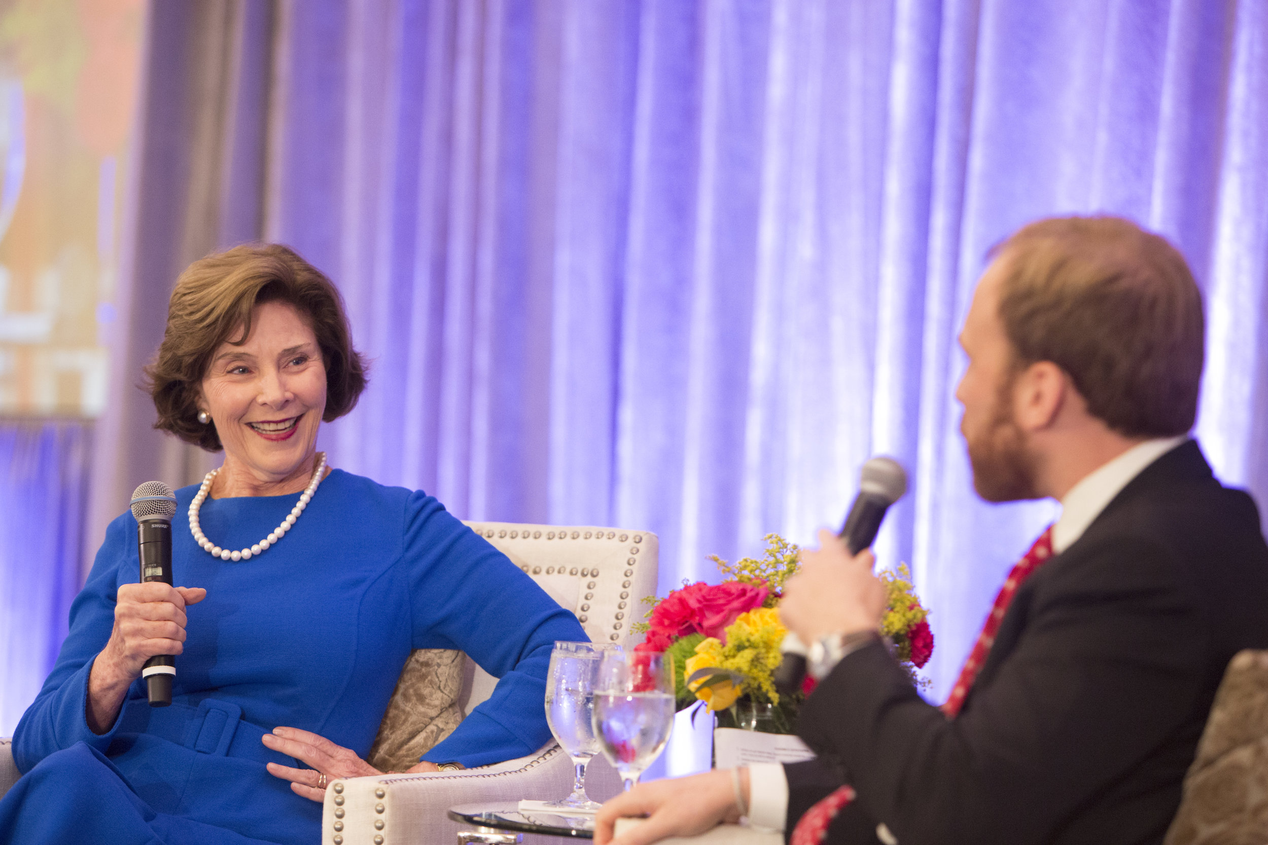 Laura Bush and Pierce Bush; Photo by Jenny Antill.jpg