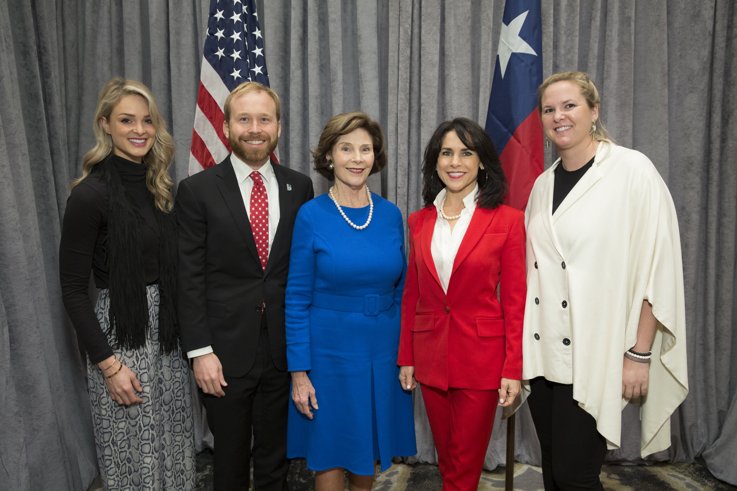 Sara Beth Bush, Pierce Bush, Laura Bush, Maria Bush, Marhsall Bush; Photo by Jenny Antill.jpg