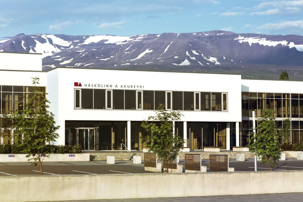 Campus of the University of Akureyri in Akureyri, Iceland.  University of Akureyri photo