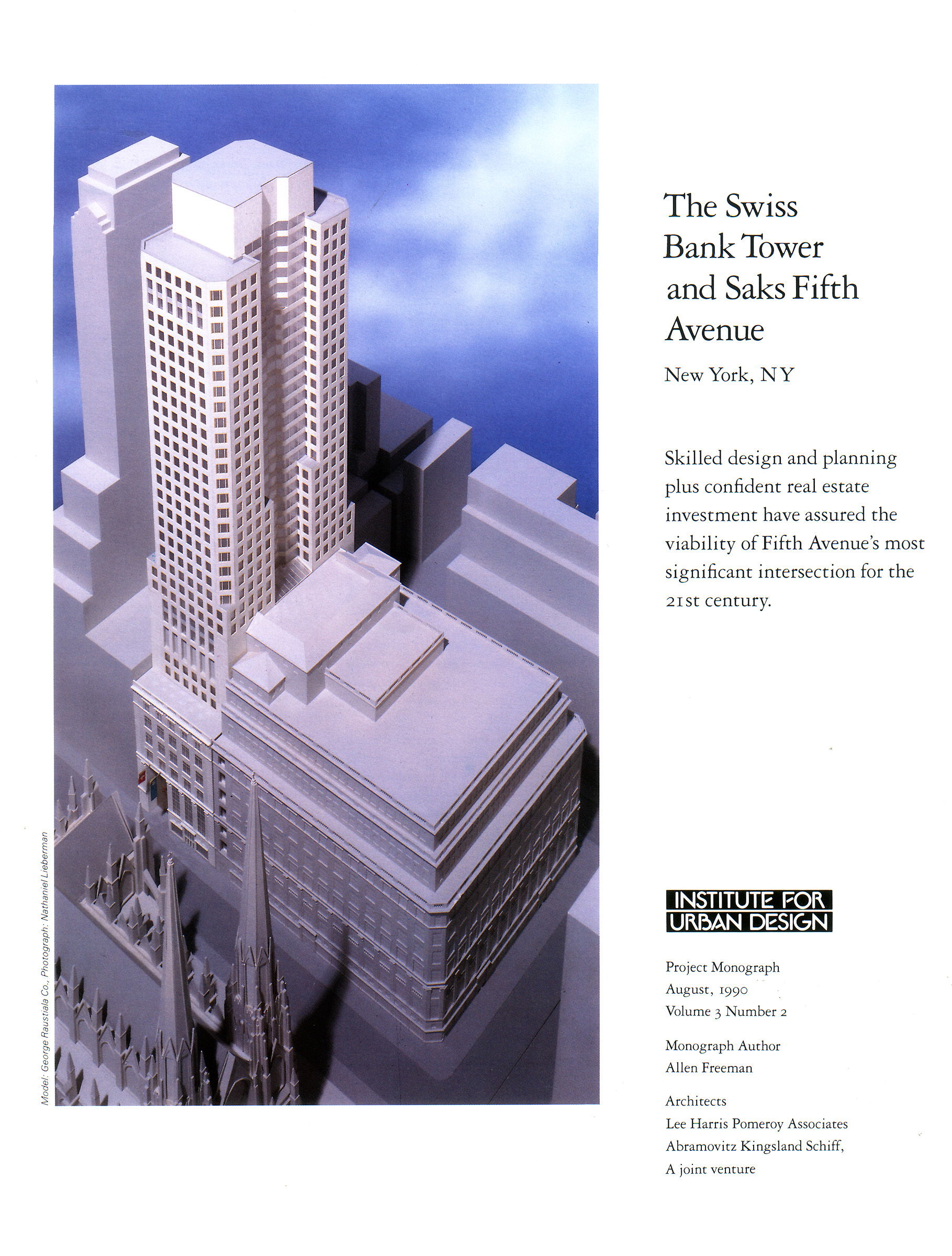 The Swiss Bank Tower and Saks Fifth Avenue