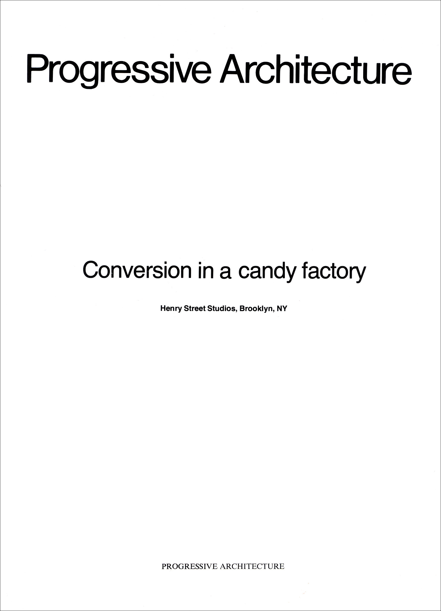 Conversion in a candy factory