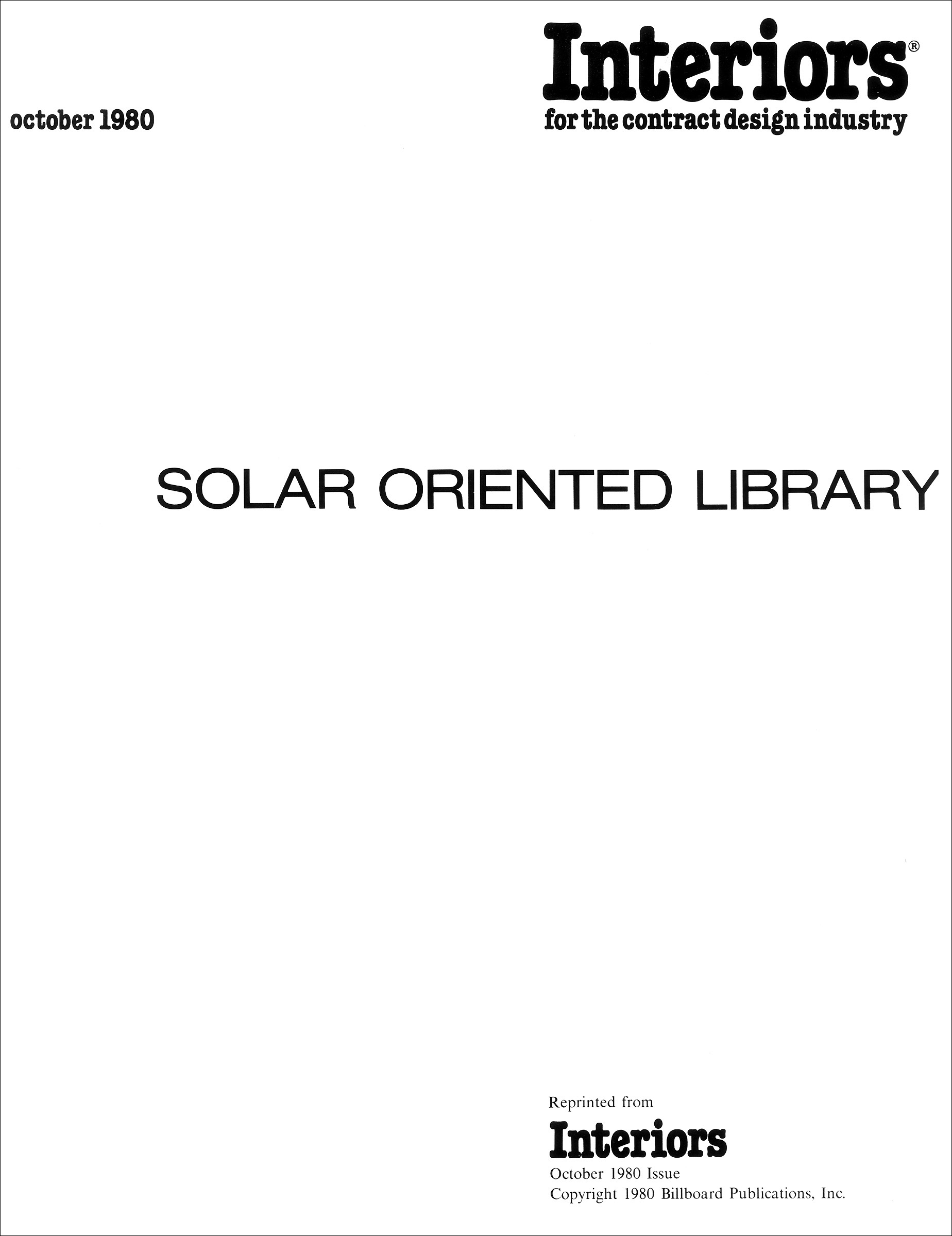 Solar Oriented Library