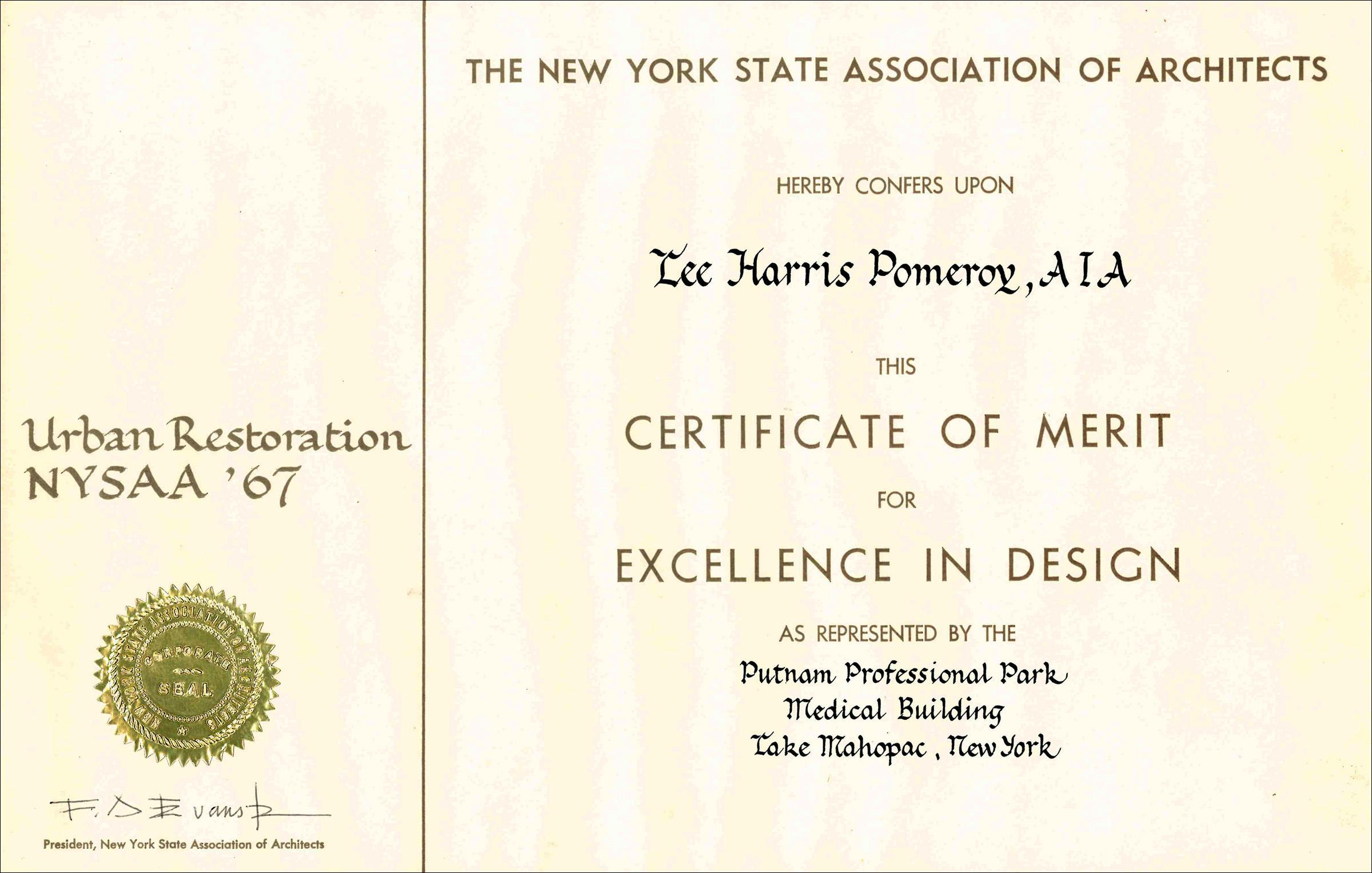 1967 NYSAA Putnam Prof Park