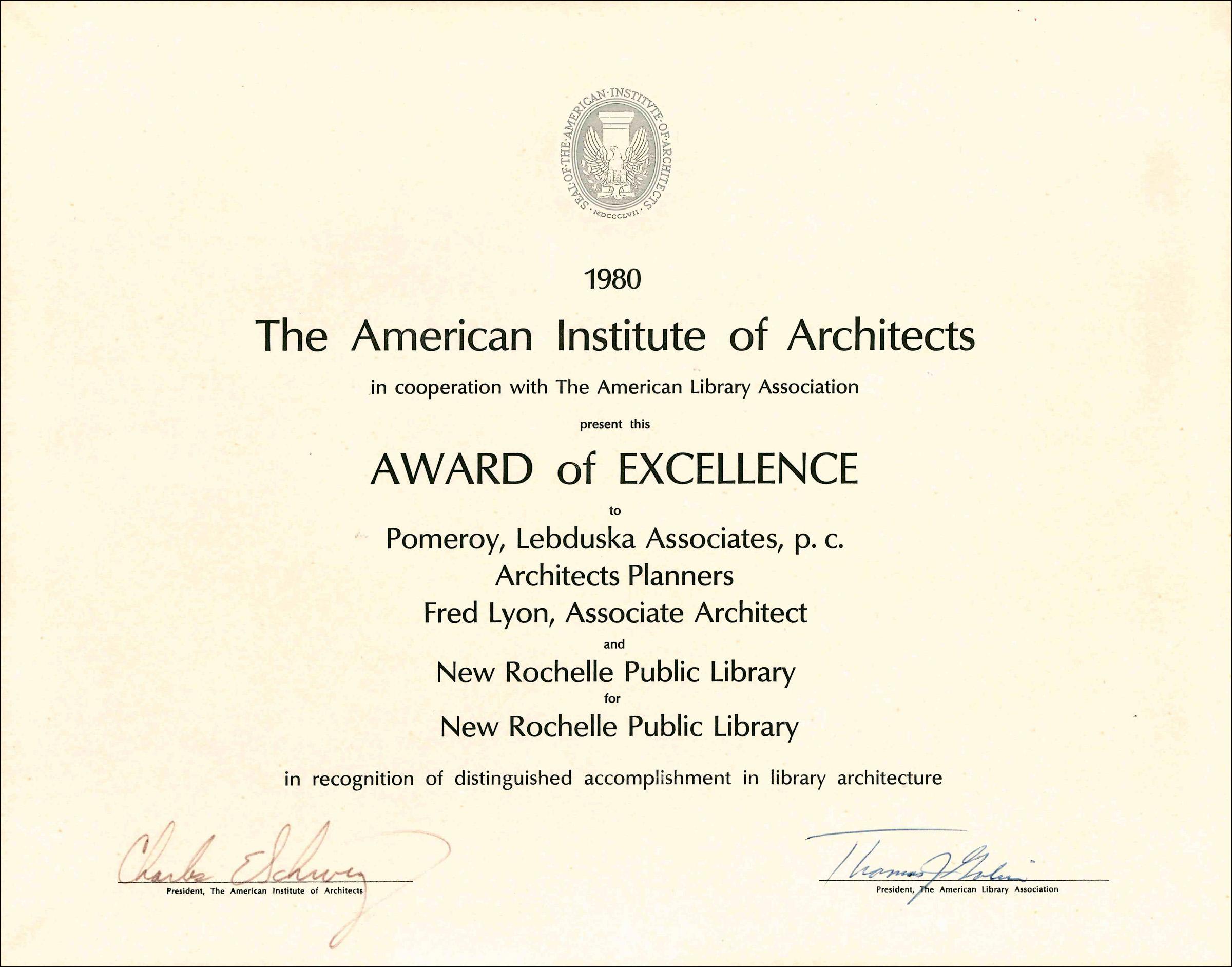1980 AIA New Rochelle Public Library