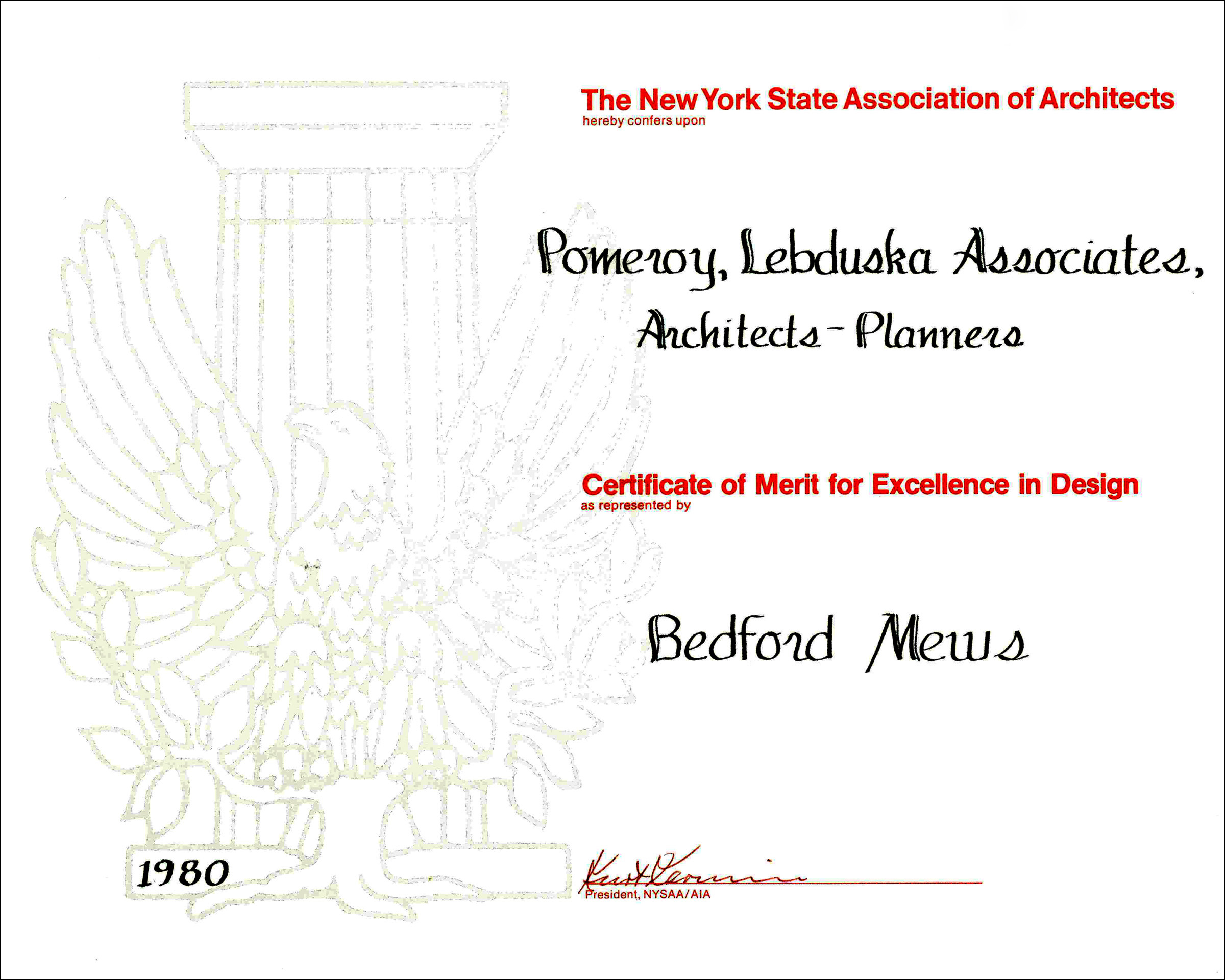 1980 AIA NYS Bedford Mews