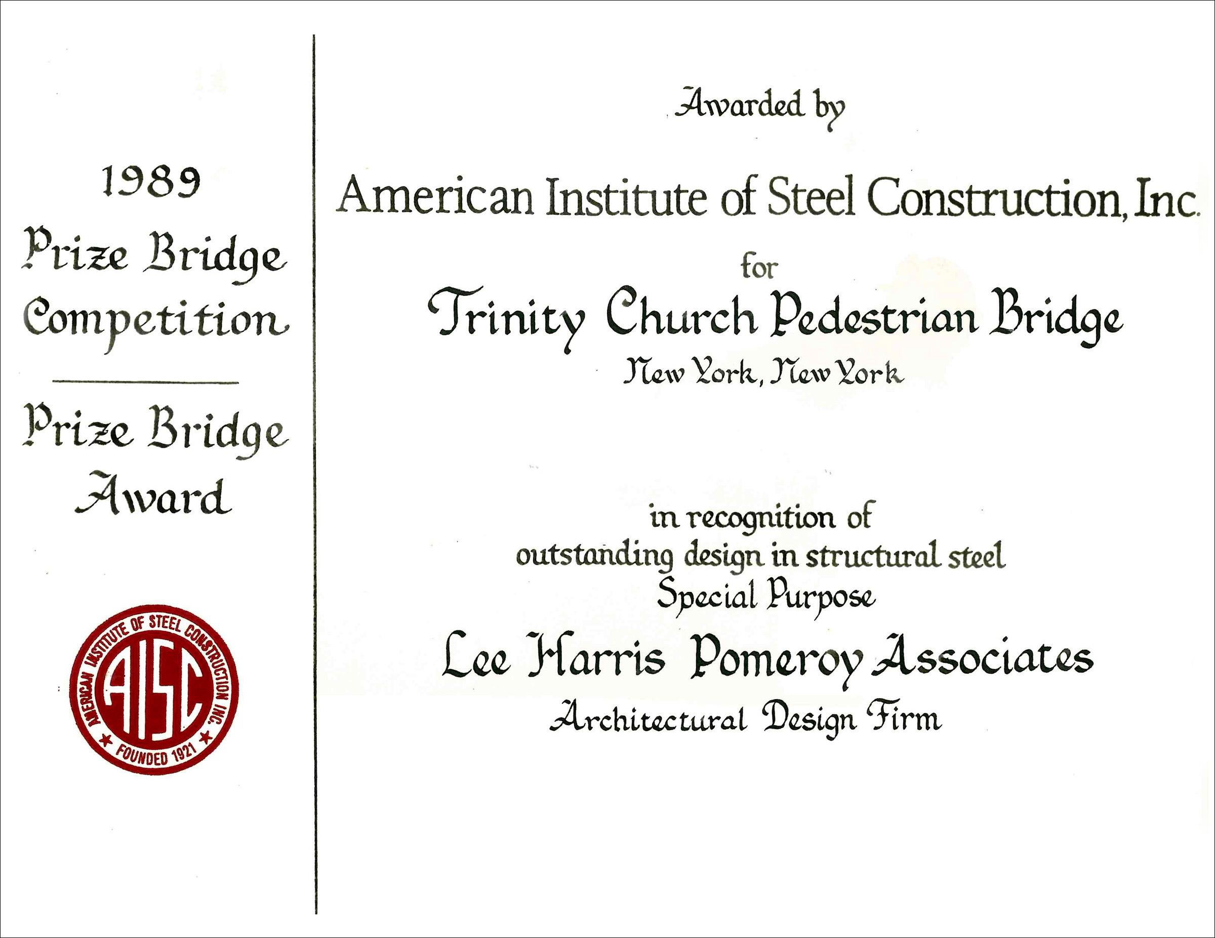 1989 American Inst Steel Const Trinity Bridge