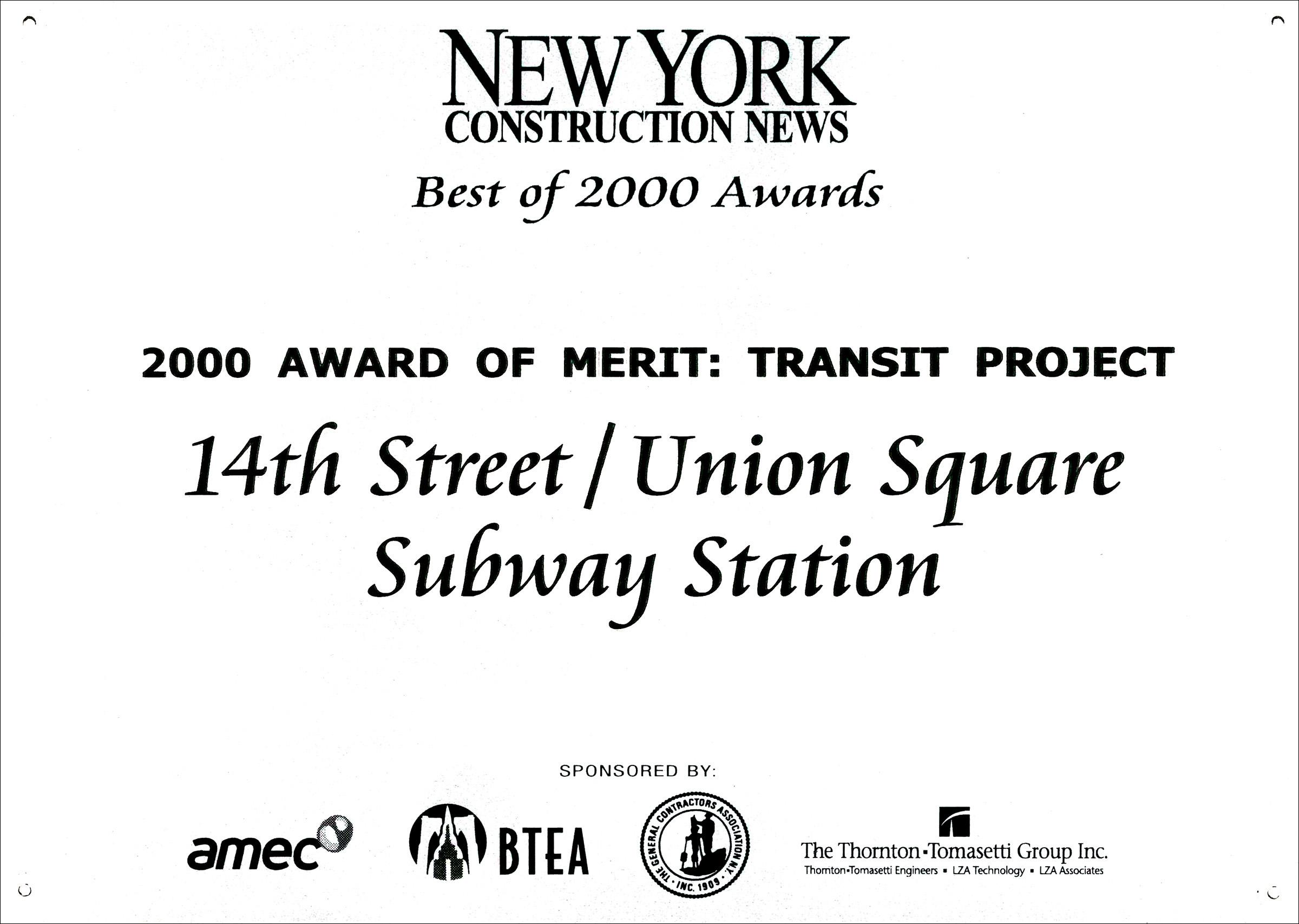 2000 NY Const News 14rth St Union Sq