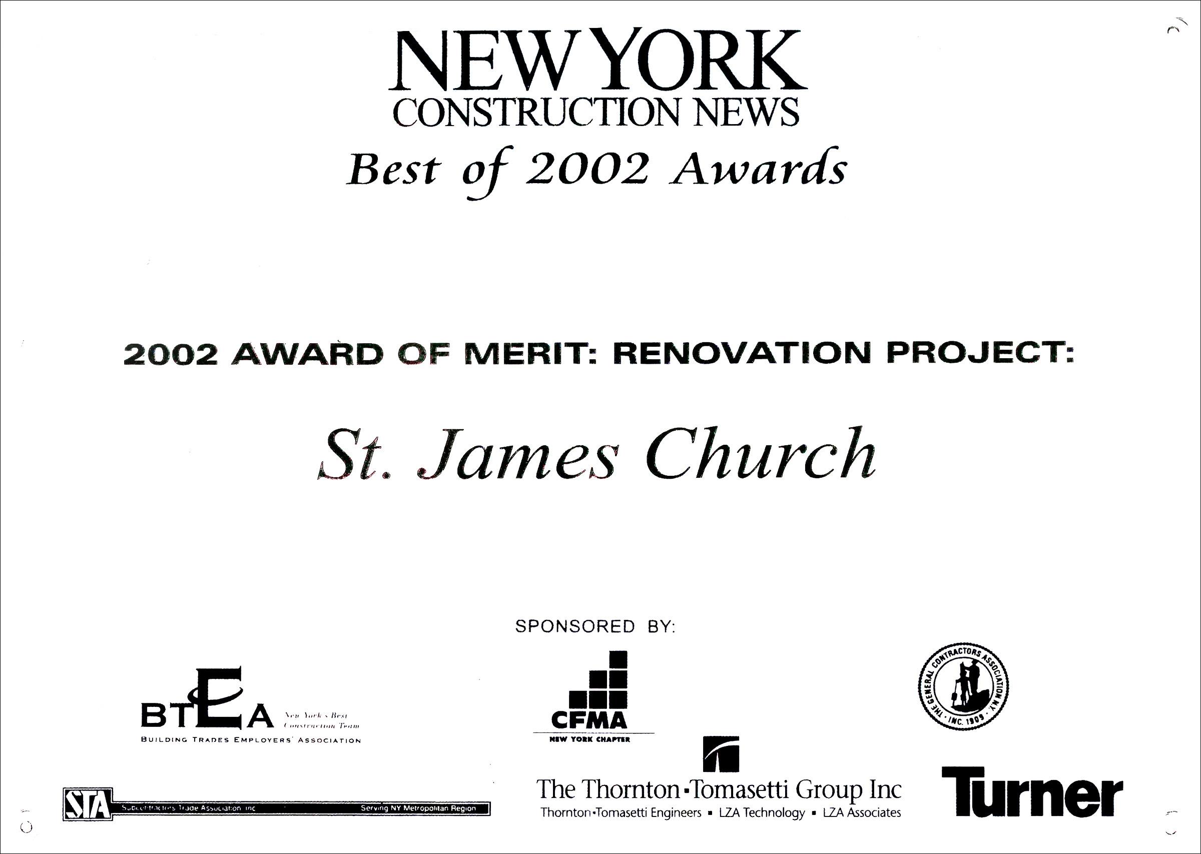 2002 NY Const News St James Church