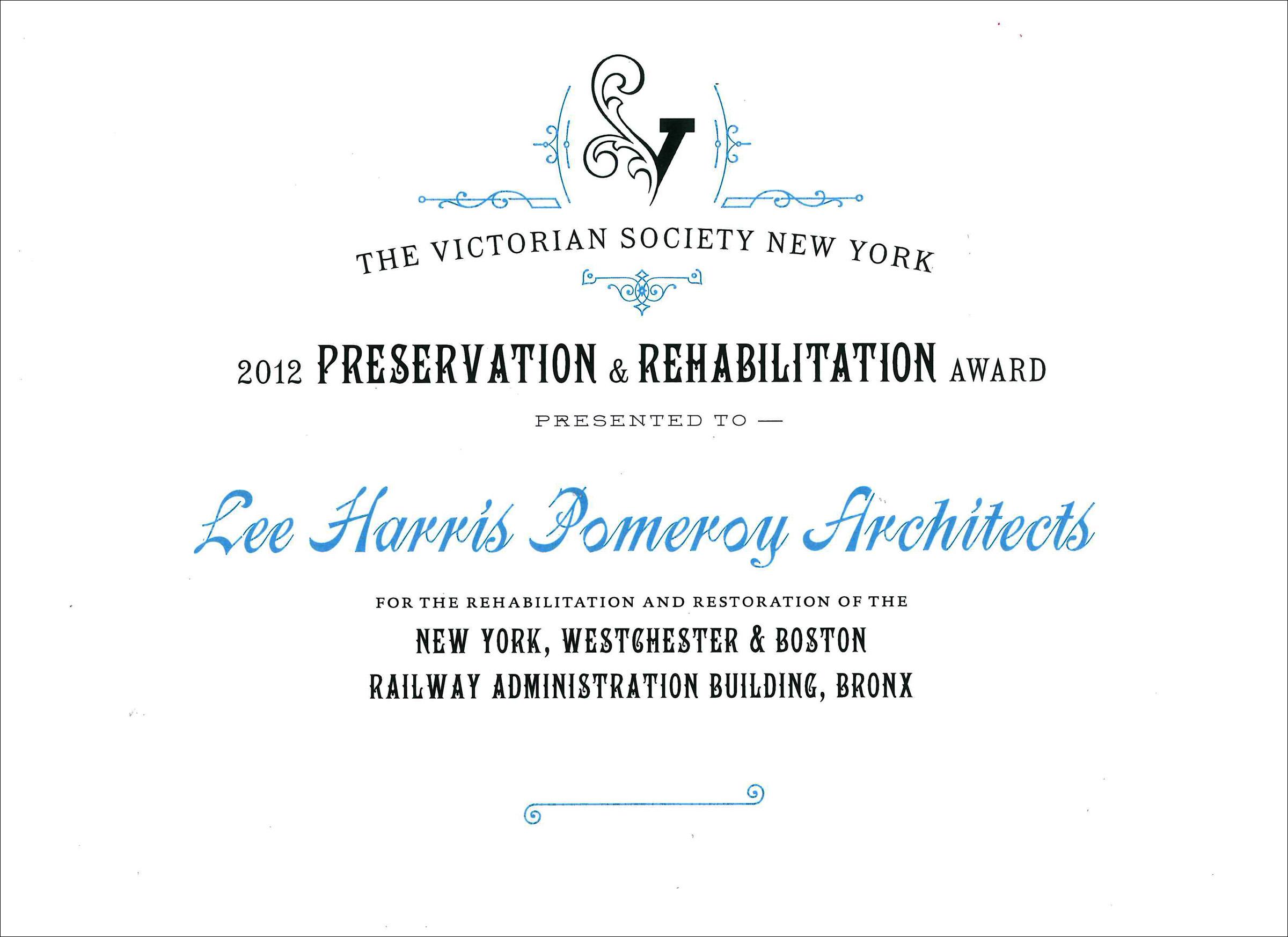 2012 Victorian Society of NY E 180th Street