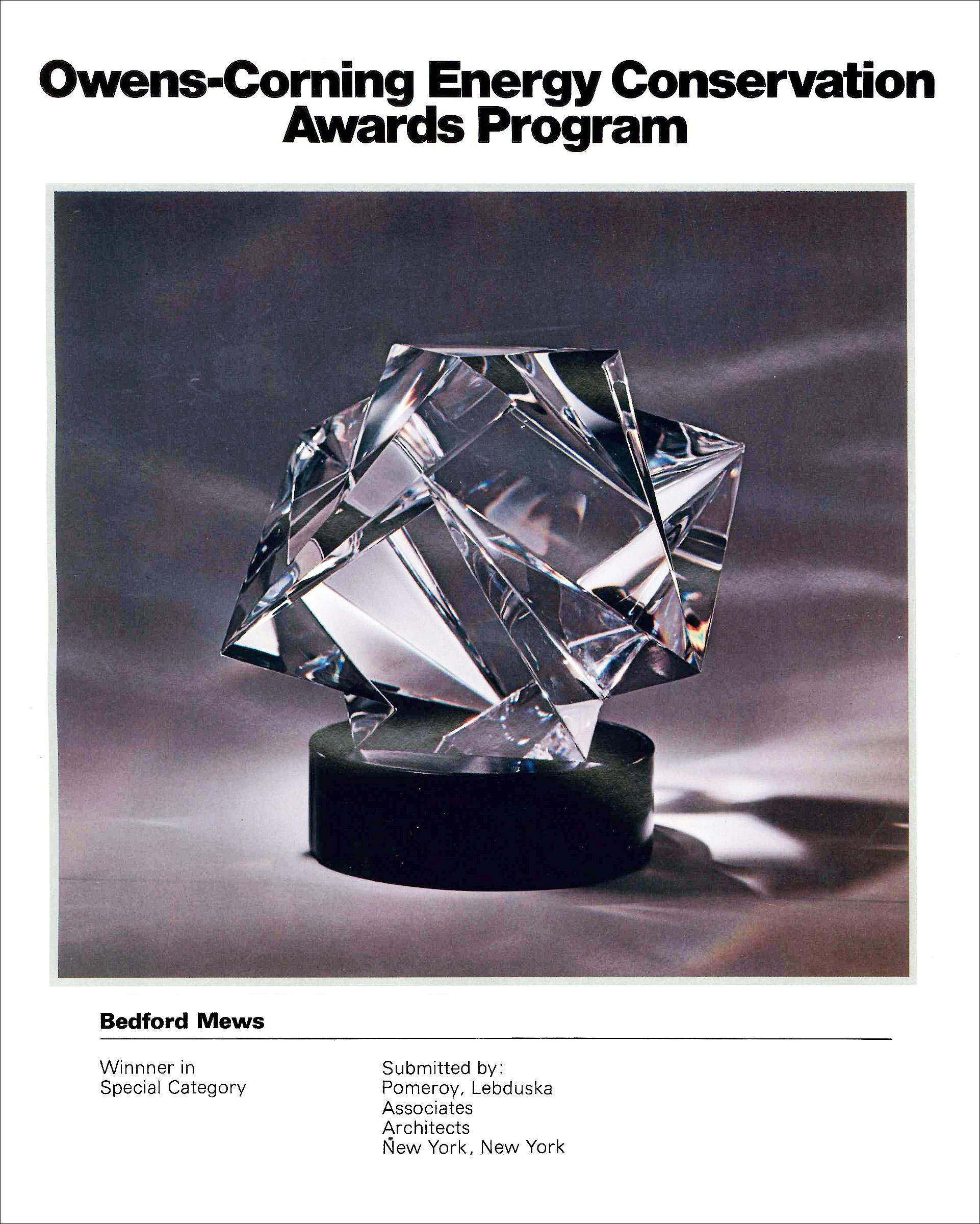 Owens Corninbg Energy Conserv Awards Bed Mews