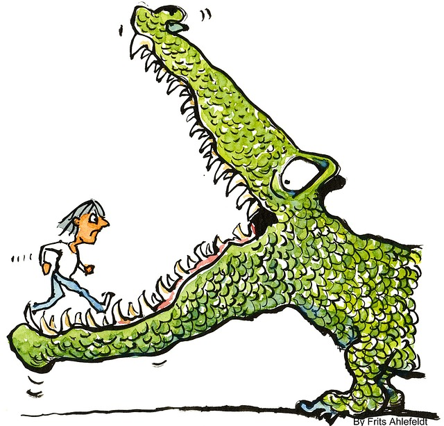 challenge-crocodile-businessman-woman-dragon-fear.jpg