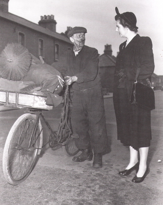 The 1951 election campaign. Margaret Roberts tries to persuade a Dartford chimney sweep to vote for her. She lost, but from 1958 her political rise was unstoppable.