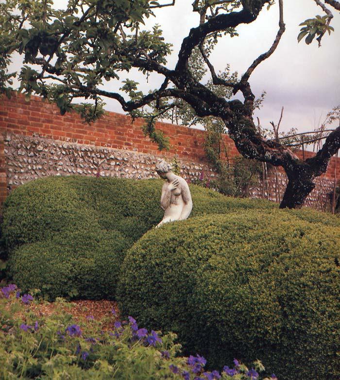 The Garden. The statue is a cast of a Giovanni da Bologna.