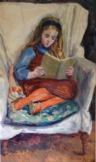 Virginia reading, Duncan Grant, 1961