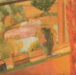 Vanessa Bell painting of Charleston Pond, 1919