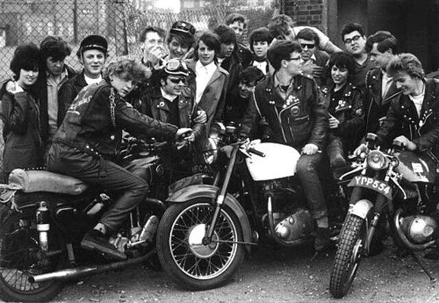 Biker girls were in a minority in the rocker fraternity.