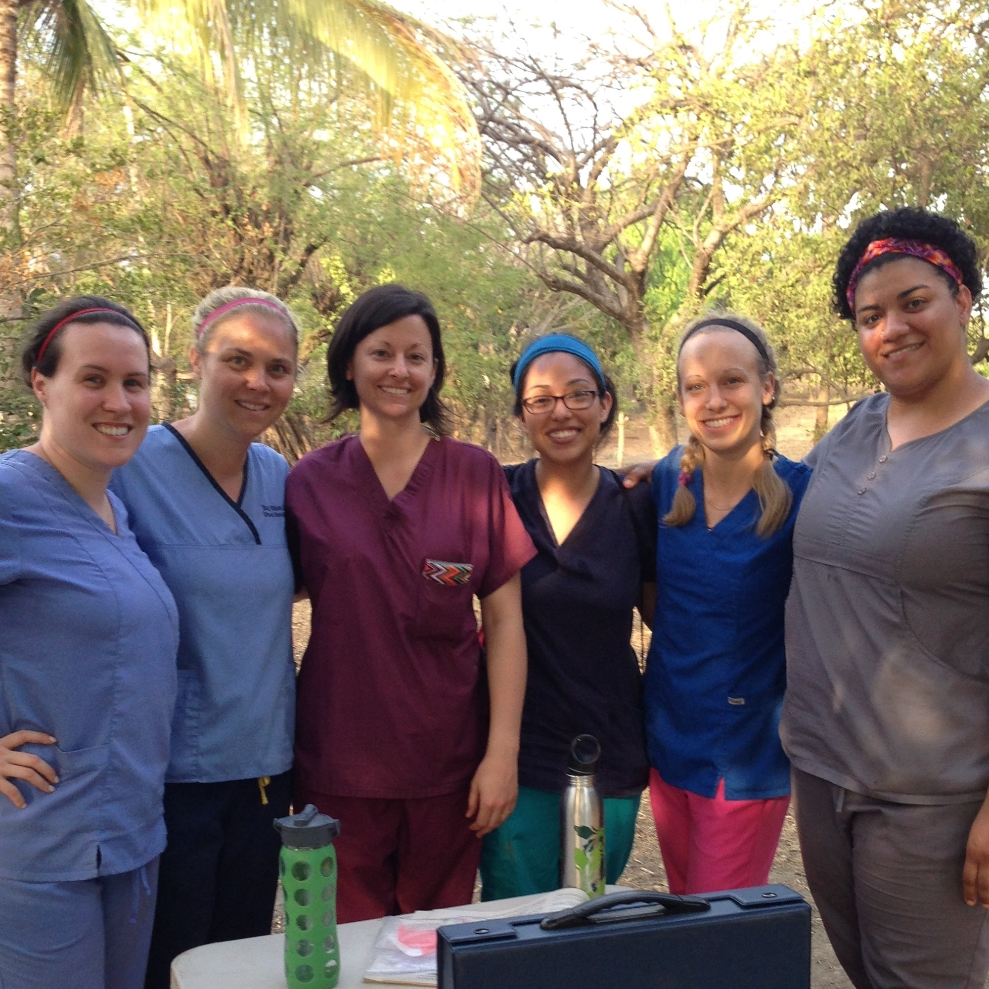 Pictured second from the left in Nicaragua in the Spring of 2013 with students from the National University of Health Sciences.