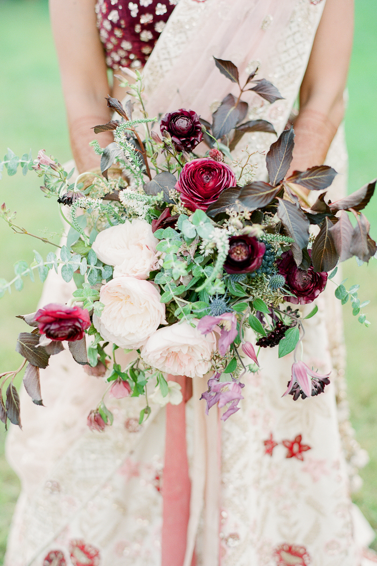 Bright Berry Colored Wedding Bouquet