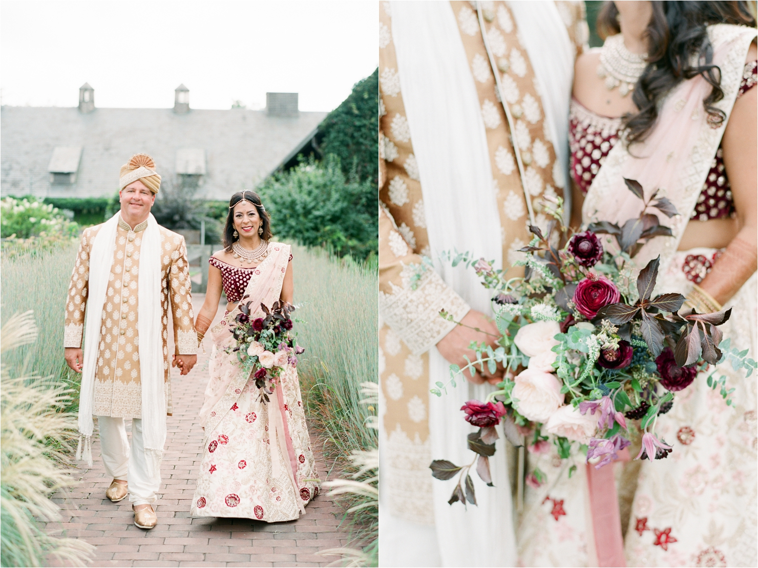 Bohemian Chic Indian Fusion Wedding Photos