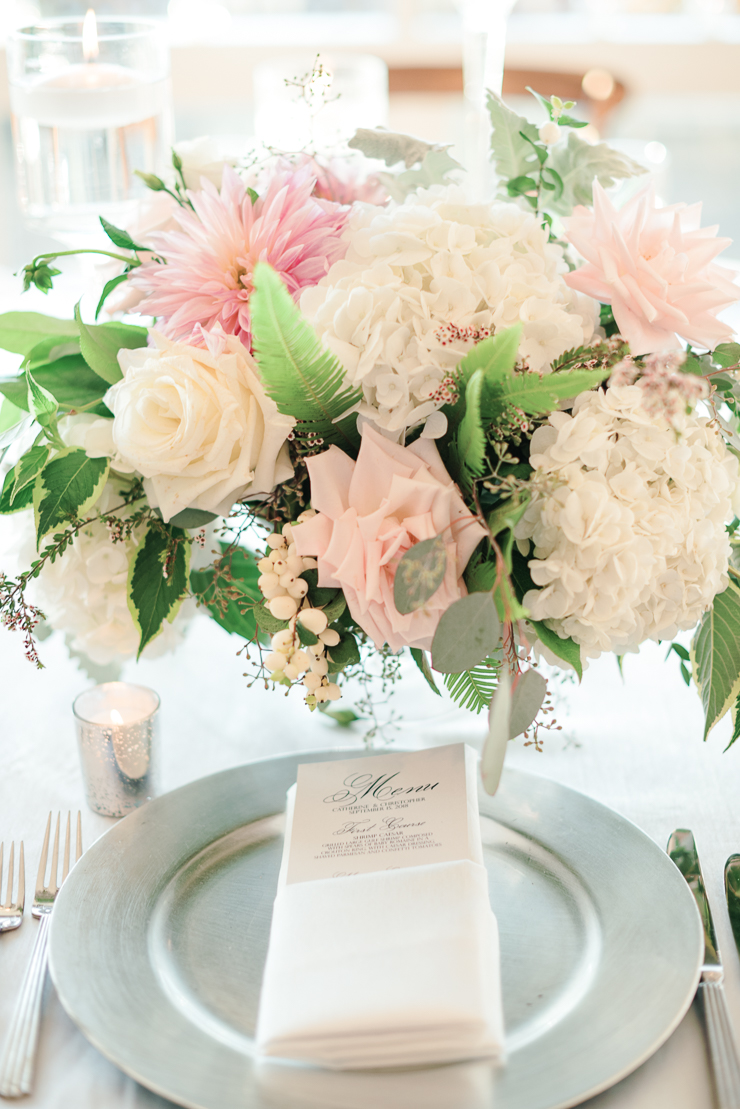 Pink Reception Centerpiece Flowers