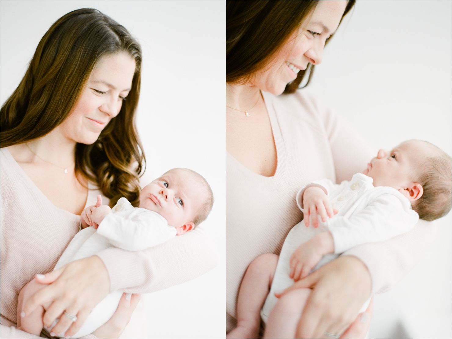 Mother and Baby Newborn Photos
