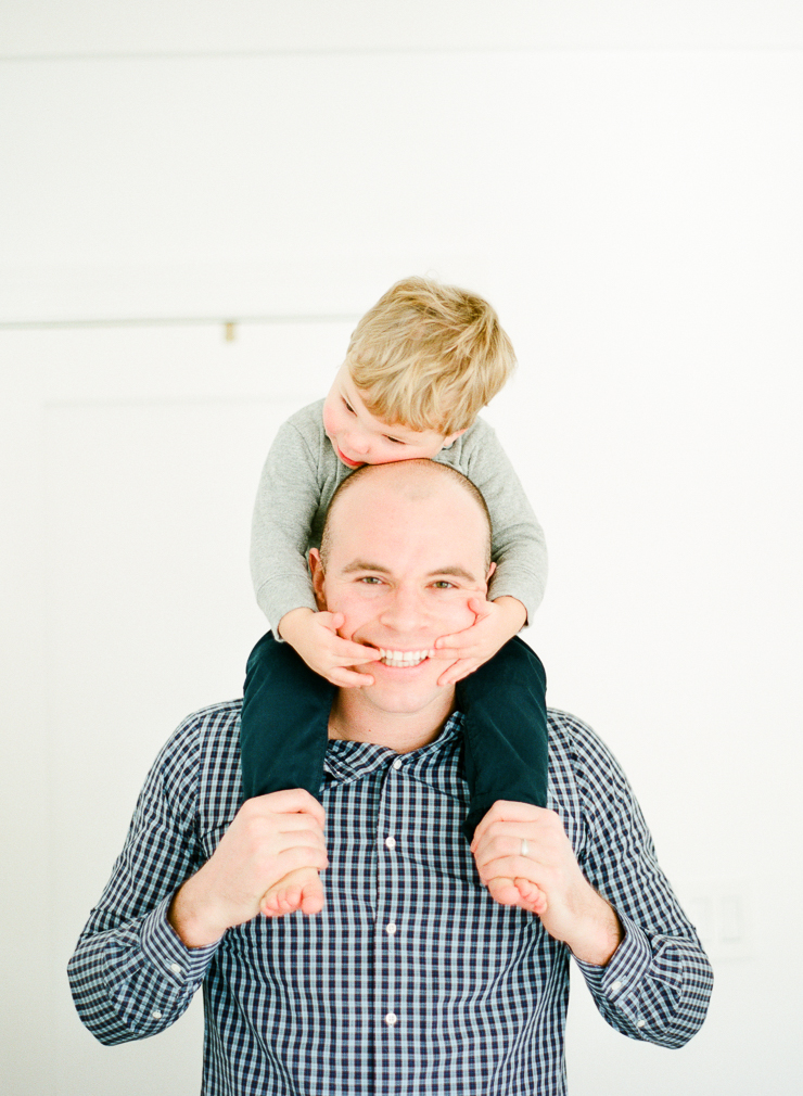 Son on Shoulders with Dad