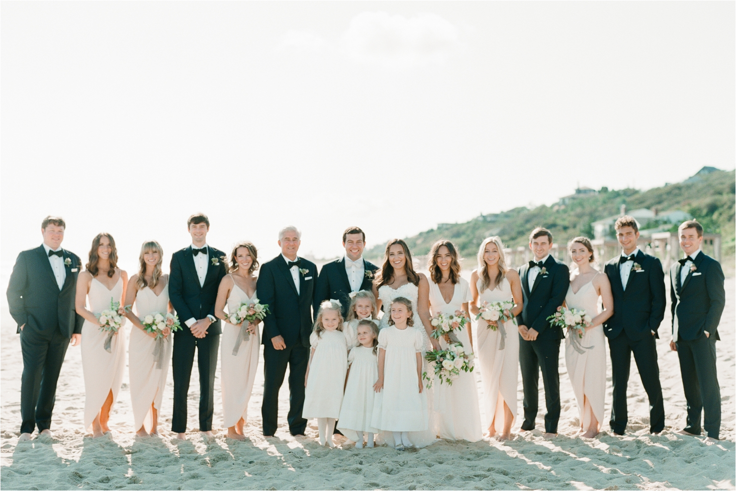Bridal Party Photos on Beach Gurneys Montauk Wedding