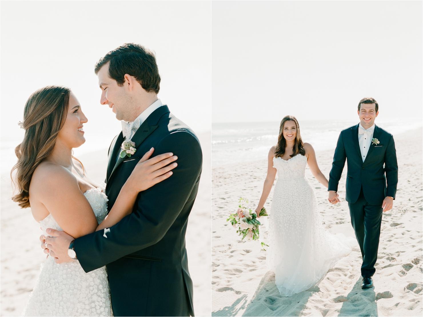 Bride and Groom Photos on Beach Gurney's Montauk