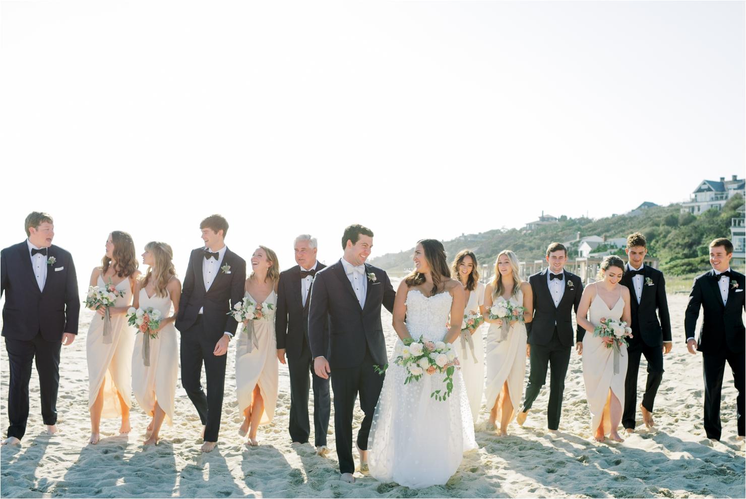 Bridal Party Beach Wedding Photos in Montauk