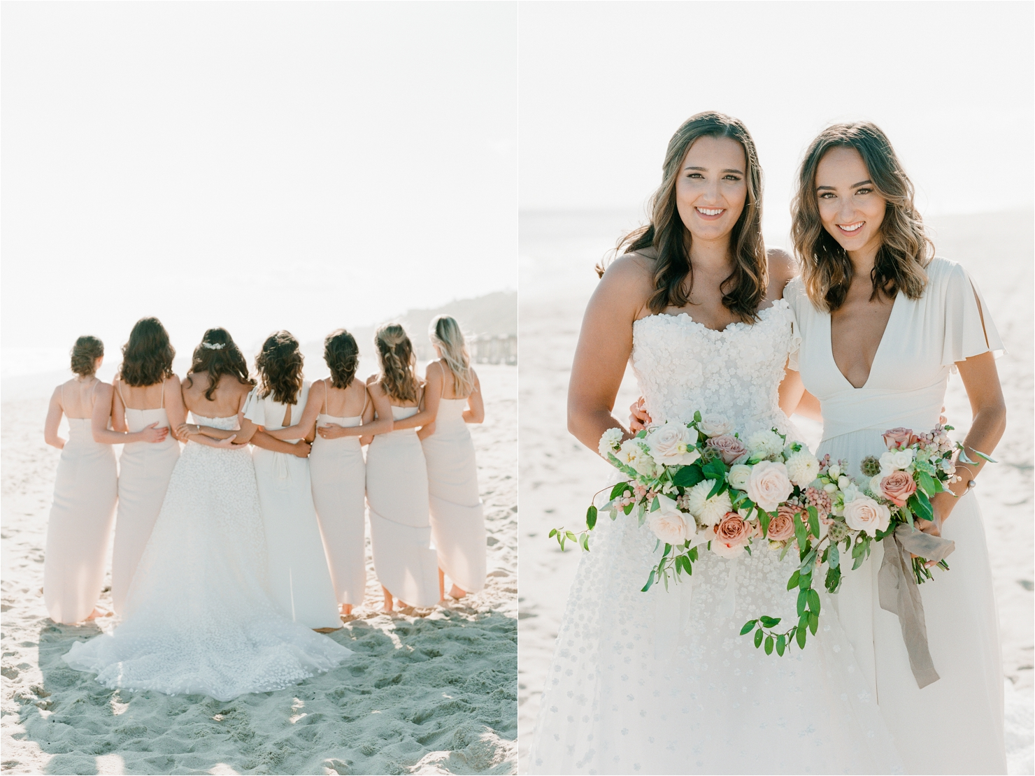 Bridesmaids Photos on Beach in Montauk