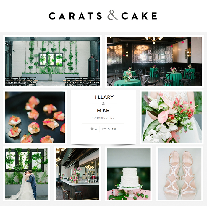 501 Union Wedding Photos Featured on Carats and Cake