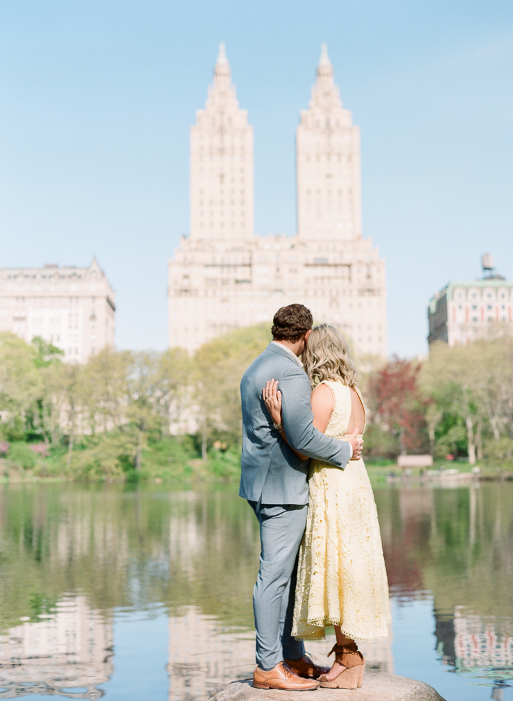 Bow Bridge Central Park Engagement Photos