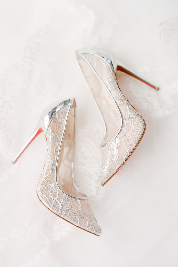 Silver Lace Christian Louboutin Shoes