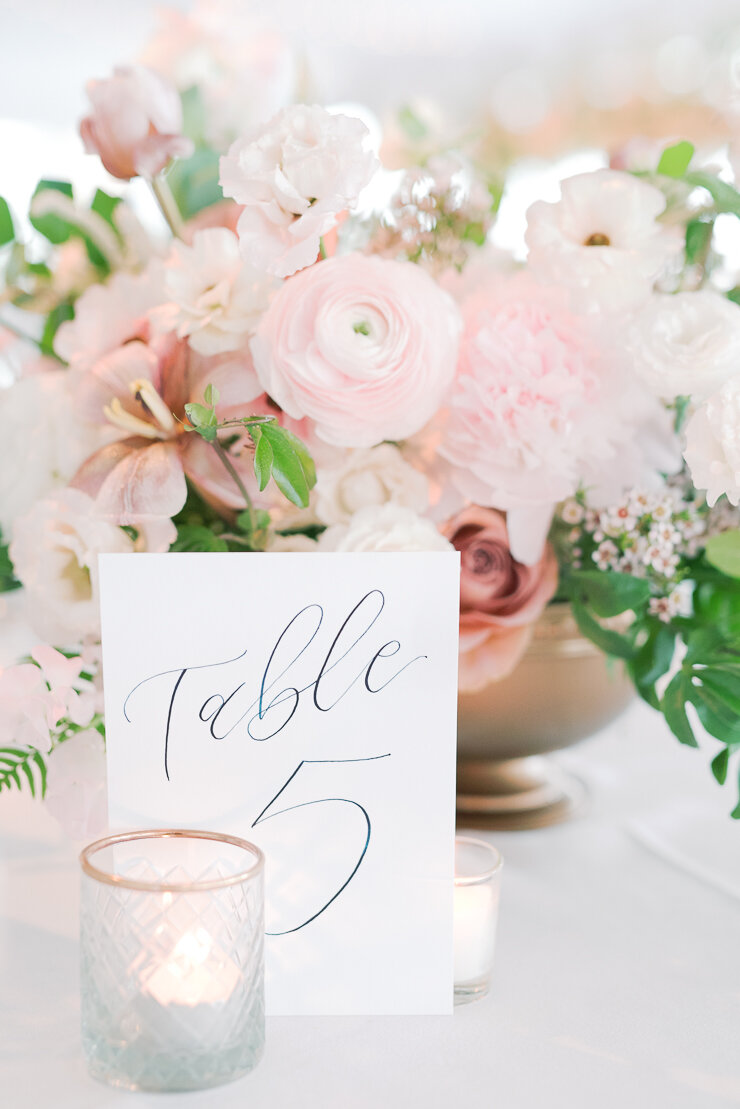 Hand Drawn Calligraphy Table Numbers