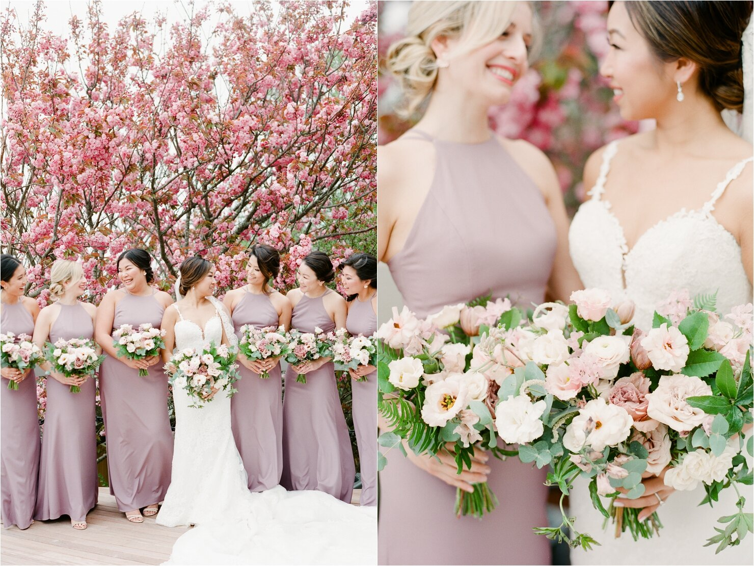 Lavender Bridesmaids Dresses at Gurney's Montauk