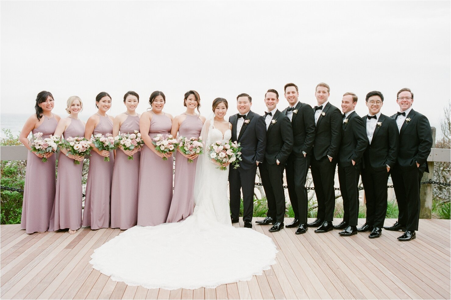 Full Bridal Party Photos at Gurney's Montauk