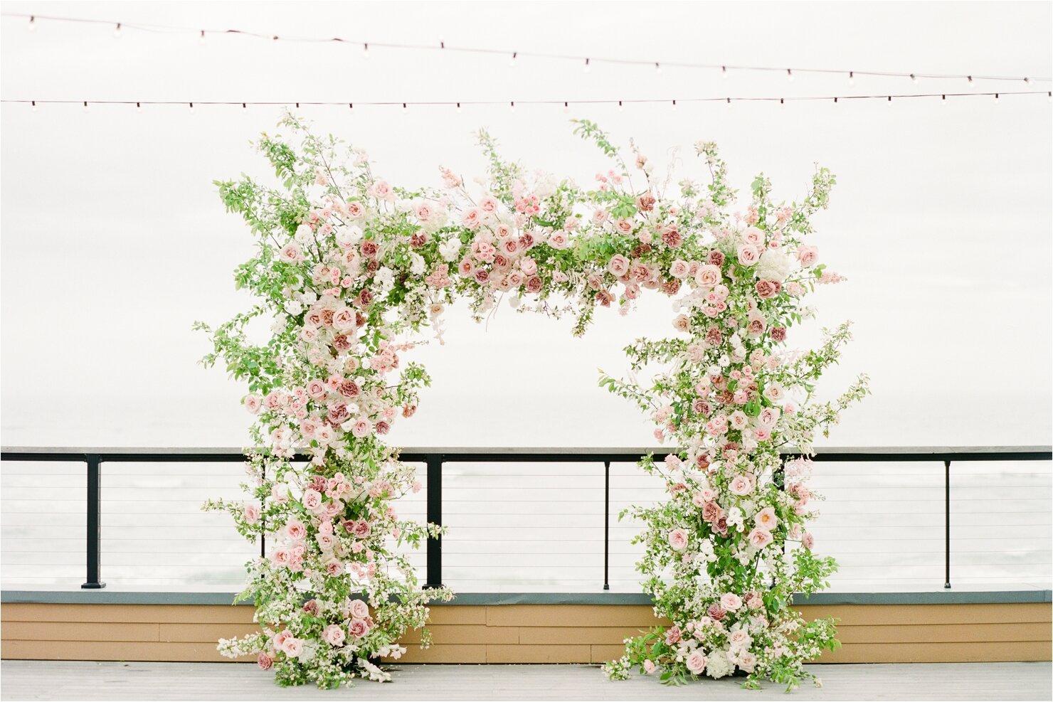 Blush and Mauve Floral Arch